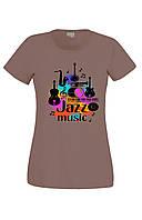 Футболка JAZZ MUSIC жіноча кав'ярня