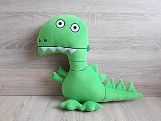 Мягкая игрушка Динозавр - робот Динорык поросенка Джорджа 38 см