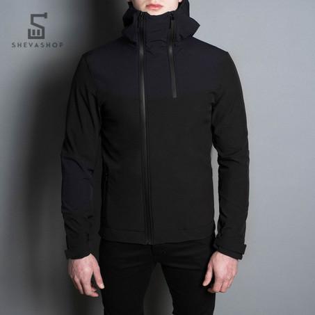 Демисезонная мужская куртка Pobedov Jacket Pyatnitsa черно-синяя