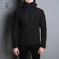 Демисезонная мужская куртка Pobedov Jacket Pyatnitsa черно-синяя, фото 1