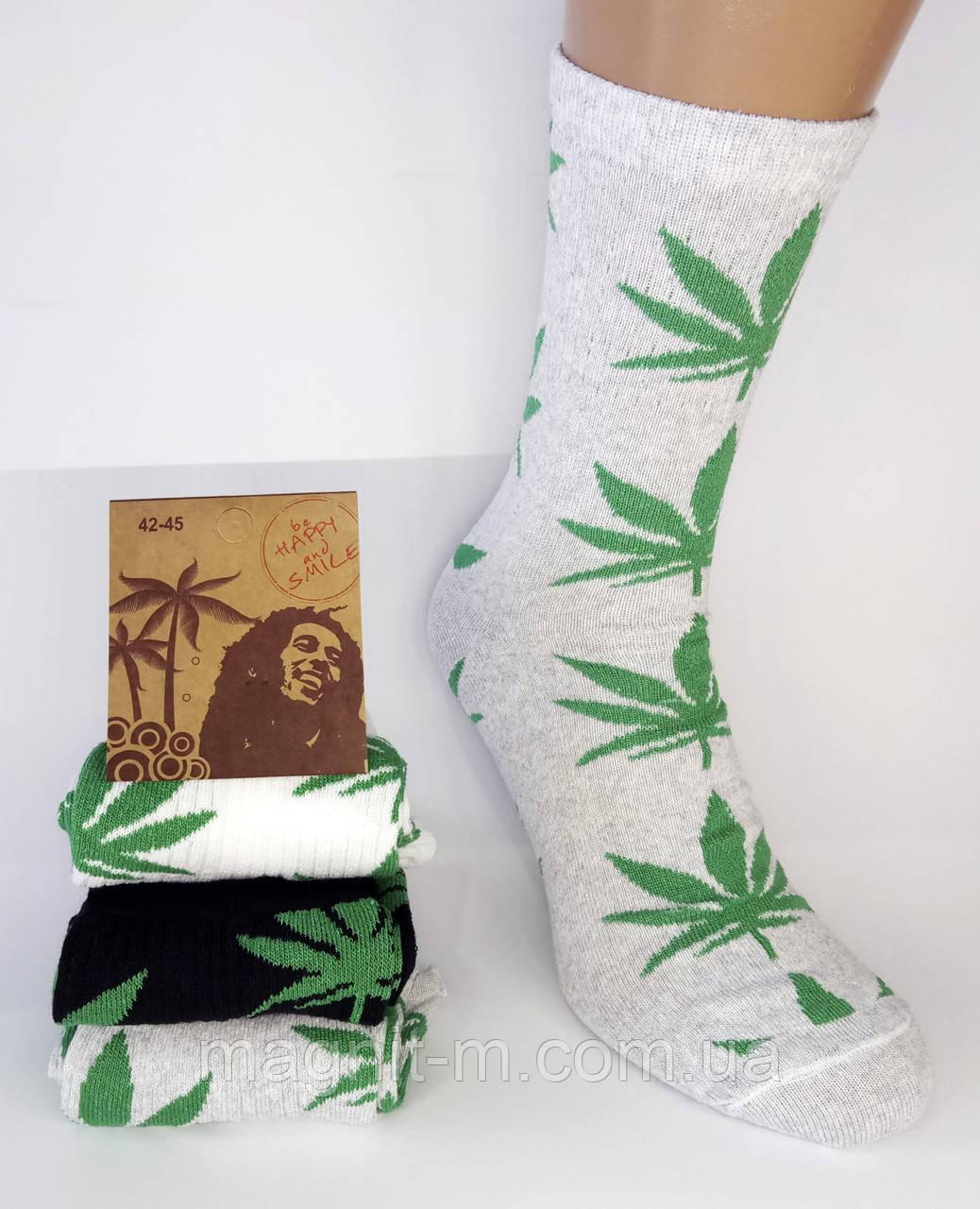 Шкарпетки чоловічі високі. Р-Р 42-45. Чорний, сірий, білий. Конопля.