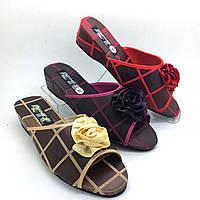 Тапочки на каблуке танкетке. Обувь домашняя женская 13-961