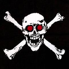 Черная бандана Череп с костями