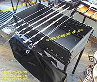Мангал чугунный разборной с чехлом 55х30х18 см. гриль, барбекю, фото 1