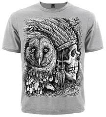 Футболка Indian Skull & Owl, Размер S