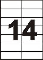Бумага самоклеящаяся формата A4 (Этикеток на листе14 шт. размер105х42,4 мм)