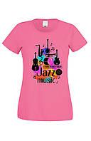 Футболка JAZZ MUSIC женская розовая