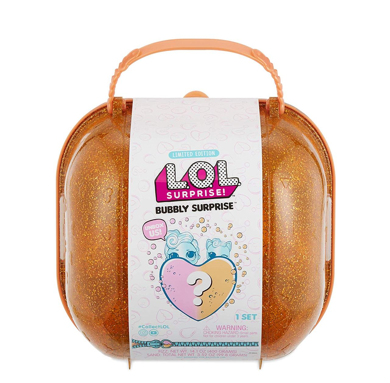 LOL BUBBLY SURPRISE™ (шипучий сюрприз) чемоданчик оранжевый
