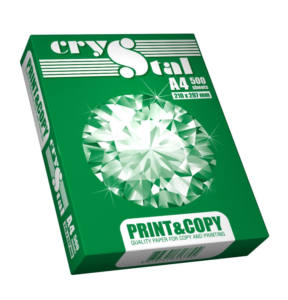 Папір офісний CRYSTAL PRINT&COPY А4 клас З 75 г/м2 500 аркушів