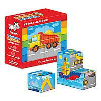 Деревянные кубики Vladi Toys Транспорт ZB1001-03 ТМ: Vladi Toys