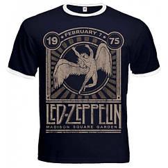 """Футболка-рингер Led Zeppelin """"Madison Square Garden 1975"""", Размер S"""