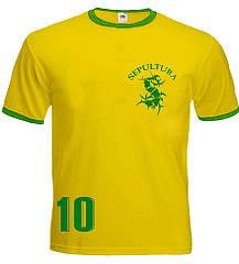 Футболка-рингер Sepultura (Brazil), Размер XXL