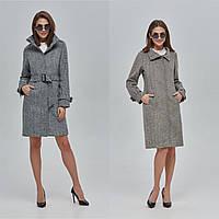 Женское демисезонное  пальто с воротником стойка  ПВ-91  (р.44-52)