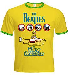 """Желтая футболка-рингер The Beatles """"Yellow Submarine"""", Размер L"""