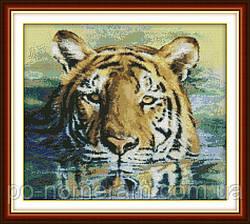 Вышивание крестиком Идейка Тигр в реке (ide_D185) 44 х 40 см