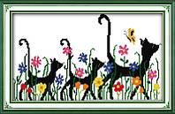 Набор для вышивания Идейка Черные кошки (ide_D206) 40 х 28 см