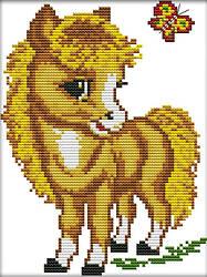 Вышивка крестиком Идейка Маленький пони (ide_D363) 23×32 см