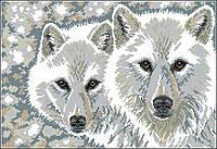 Набор для вышивки Идейка Волчья пара (ide_D368) 52×38 см