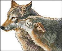 Вышивка крестом Идейка Поцелуй волка (ide_D420) 52×44 см