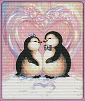 Набор для вышивки Идейка Любовь пингвинов (ide_D433) 53×62 см