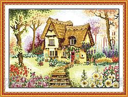 Вышивание крестиком Идейка Маленький домик (ide_F023) 56 х 42 см