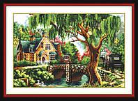 Картина вышивка крестом Идейка Среди деревьев (ide_F061) 61 х 46 см