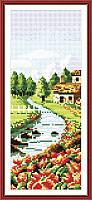 Вышивка крестом Идейка Весенний пейзаж (ide_F067) 20 х 36 см