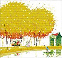 Картина вышивка крестом Идейка Японский пейзаж 2 (ide_F103) 46×44 см