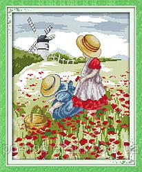 Набор для вышивки Идейка Дети в поле (ide_F196) 33 х 39 см