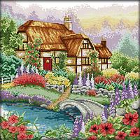 Вышивка крестом Идейка Цветущий дом (ide_F205) 44×44 см