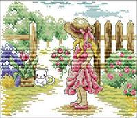 Набор для вышивания Идейка На прогулке (ide_F309) 25×22 см