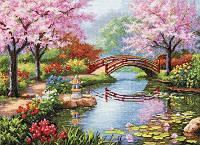 Набор для вышивания Идейка Живописный сад (ide_F410) 70×55 см