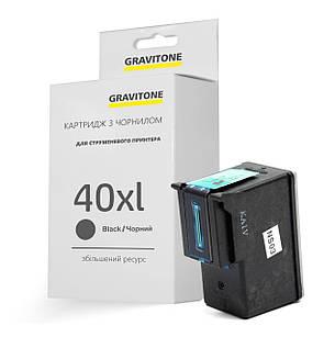 Картридж Canon PG-40 Bk (XL Ресурс) совместимый, повышенной ёмкости (450 копий), аналог 0615B025 от Gravitone