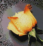 Картина вышивка крестом Идейка Жёлтая роза (ide_H023(2)) 30×32 см