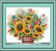 Вышивка крестиком Идейка Цветущий букет (ide_H035) 48 х 42 см