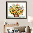 Вышивка крестиком Идейка Цветущий букет (ide_H035) 48 х 42 см, фото 2