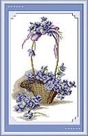 Картина вышивка крестом Идейка Цветы в корзинке (ide_H059) 28 х 38 см
