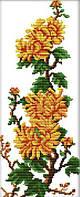Вышивка крестом Идейка Хризантемы (ide_H071) 23×42 см