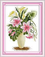 Набор для вышивки Идейка Розовые лилии (ide_H093) 35 х 47 см