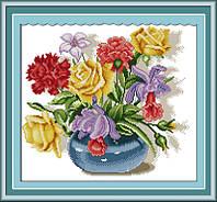 Набор для вышивания Идейка Разноцветный букет (ide_H101) 40 х 36 см