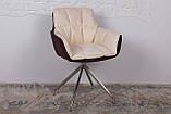 Кресло поворотное Palma, коричнево-бежевое, фото 3