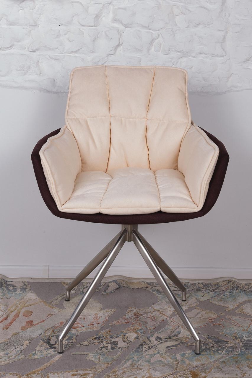Кресло поворотное Palma, коричнево-бежевое