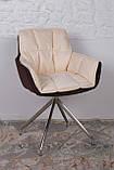 Кресло поворотное Palma, коричнево-бежевое, фото 4