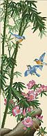 Вышивание крестиком Идейка Райские птицы (ide_H105) 33×79 см