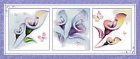 Вышивка крестом Идейка Триптих. Разноцветные цветы (ide_H191) Триптих 153 х 66 см