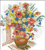 Картина вышивка крестом Идейка Весенний букет (ide_H241) 50×55 см