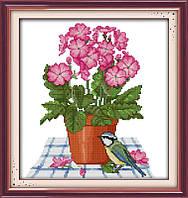 Набор для вышивания Идейка Цветы и птичка (ide_H257) 31 х 33 см