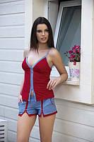 Женская пижама, костюм для дома майка и шорты Angel Story 4115