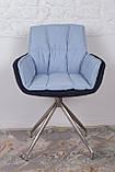 Кресло поворотное Palma, сине-голубой, фото 3