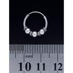 Серьга, кольцо с узором (eas-033)
